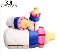 aquatic feed - Cartoon cute feeding bottle plush pillow soft seat plush cushion toys for children birthday gift pillow