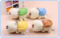 animal lanyards - 10PCS Kawaii Mini CM Tortoise Plush Stuffed TOY DOLL Phone Charm Strap Lanyard Pendant TOY DOLL BAG Key Chain