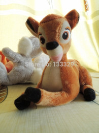 Wholesale cm Bambi deer plush stuffed baby toys children cartoon animal soft dolls children birthday gift863