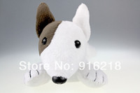 animal screen cleaners - High Quality Puppy Shaped Wrist Rest Screen Wiper Cleaner Bull Terrier Dog Big Eyed Stuffed Animals Plush Toys
