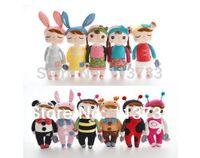 bee gift box - Cute Dolls with Gift Box Baby Metoo Bunny Plush Toys Stuffed Animals Panda Bee Dolls for Girls Baby Kids F5