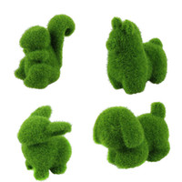 artificial animal eyes - Delicate Artificial Turf small cute animals decorations animal grass land Reduce the eye fatigue Hot Selling