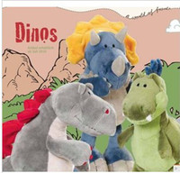 baby brother doll - 25 cm dinosaur series three brothers plush toy doll baby toys free shopping doll