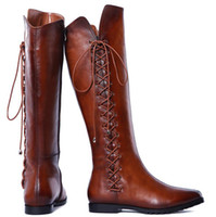 lady boot for winter - 2015 Brand newest Leather Knee high boots winter boots women ladies shoes sexy Motorcycle boots for women sapatos femininos