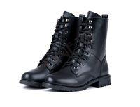 Legal do Exército Mulheres Moda Militar Preto PUNK Cavaleiro Lace up Curtas Botas Sapatos transporte da gota 22