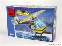Wholesale Toy building blocks rescue helicopter