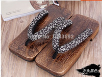 wood planks - MEN s GETA Japanese SAMURAI Clogs Wood Sandals Male clogs shoes flat wood heel square toe shoes summer plank slippers sandals