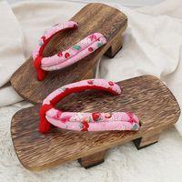 Wholesale Summer New Japanese Tung burned Unisex Two Heels Geta Sandal Clogs Slippers