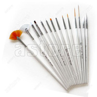 Best 15 pcs (in a set) Nail Art Design Gel Polish Brush Painting Pen
