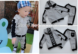 Wholesale new brand spring baby boy set Children Tracksuit casual kids clothing sets boys hoodie coat trousers spring vestidos