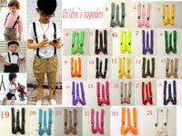 Wholesale Children s New Children Kids Boy Girls Clip on Suspenders Elastic Adjustable Braces