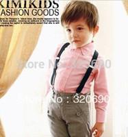 Wholesale Fashion Belt candy Color Clip On Braces kids child Y back Suspenders Adjustable Braces wholesales amp retail