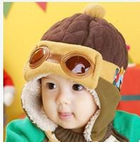 ball aviator - 2015 autumn and winter hat aviator hat style hat Korean children hat cap insulation