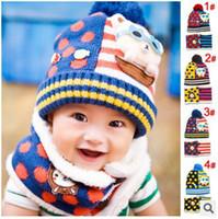 beer ball caps - Fashion Winter Lovely Beer Children Skullies amp Beanies Scarf Hat Set Baby Boys Girls Knitted Kids Hats amp Caps