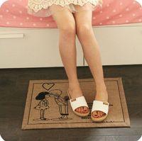 absorbent cotton wool - Cotton Non slip Carpets for Living Room Lovely Doormat Absorbent Antiskid Bathroom Carpet Washable Rug cm CT078