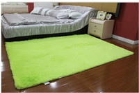 Wholesale 120 cm Green Washable super cute round rug living room bedroom bedside carpet upholstery computer mat
