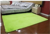 Wholesale 120 cm Green Washable super cute round rug living room bedroom bedside carpet upholstery computer mat