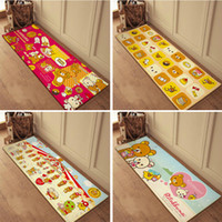 bathroom shabby chic - Long cartoon foam carpet shabby chic rugs doormat kitchen floor children s bedroom mats slip resistant pad flannel