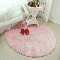 area computers - round pink carpet area rugs living room bedroom floor carpet bed mat computer cushion diameter m for home outdoor free ship