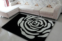 acrylic rug yarn - Black and white rose x230cm acrylic yarn rugs and carpets
