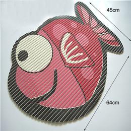 Wholesale PVC Bathroom Carpet Cartoon Non slip Mat cm Kids Children Shower Front Door Floor Welcome Mats Kitchen Bar Accessories SALE