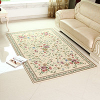 beige area rug - Classic Carpet European Country style Area Rug Chic Floral living room and Bedroom floor Mat A Beige X230cm