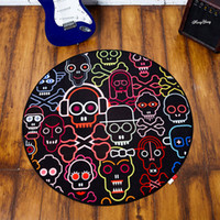 american households - Brief american fashion personality trend of the household circle black computer chair carpet mats mat