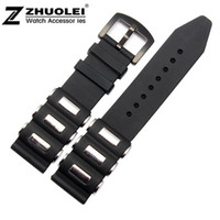 Wholesale New Arrvied mm Black Silicone Rubber Wrapped Stainless Steel Watch Band