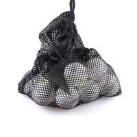 ball storage net - Nylon Mesh Nets Bag Pouch Table Tennis Golf Ball Holder Balls Black Portable Storage Drawing String Closure