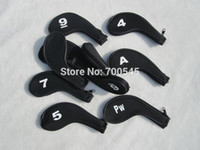 Wholesale Number Printed Golf Irons Head Covers golf accessoriesheadcover for golf irons with Zipper Long Neck pack Multi colors