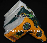 Wholesale Clubs HeadCover CEORGIA TGolf Putter HeadCover Yellow Green White Color club Cover pcCan mix color