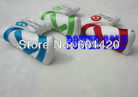 Wholesale 3pcs For Tour Use Golf Putter Headcover PU head covers protector Mix colors freeshipping