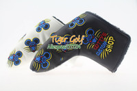 Wholesale New Golf headcover High quality putter headcover rat Golf putter headcover with Black white color clubs headcovers