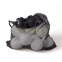 Wholesale Nylon Mesh Nets Bag Pouch Tennis Golf Ball Equipment Holder Balls Black Portable Storage Drawing String Closure