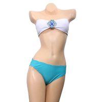 bathing stone - B065 VS Brand Bandeau Top Bikini Set Diamond Swimwear Sexy Stones Crystal Swimsuit For Women Biquinis Bathing Suit Sale New
