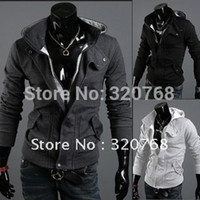 big man sweaters - Three colors of the big selling men s sweater solid color hoodies handsome leisure jacket XS S M L XL