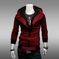 Wholesale 2015 New Cotton Fashion Jacket Hot Men s Fashion Jacket New Color Matching Zipper Men s Coat