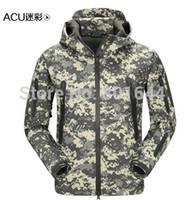 acu windbreaker - ACU Waterproof ZIPPERS hoody windbreaker jacket hunting softshell