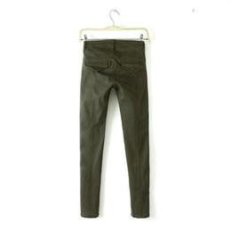 Wholesale 03C121 Fashion women s Elegant amy green carpenter pants suit pants leisure pants pockets slim trousers brand designer pants