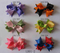 Wholesale about quot Girls Hair Accessories Baby hair bows hairs clips grosgrain ribbon bows hair bow z