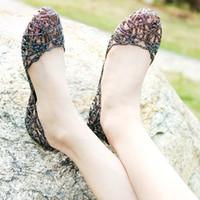 Melissa 2015 sapatos femininos praia pássaro plana furo ninho sapatos sapatos de geléia de cristal flor recorte sandálias de plástico de malha