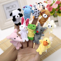 Cheap Wholesale-Free Shipping Baby Plush Toy Finger Puppets Tell Story Props(10 animal group)Animal Doll  Kids Toys  Children Gift