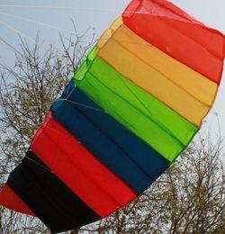 Beautiful two-wire   1.5 meters rainbow umbrella kite!