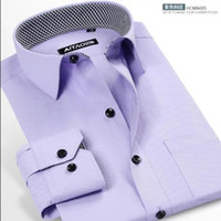 absolutely cotton - The new man absolutely pure cotton long sleeve shirt High end fashion beautiful han edition cultivate one s morality shirt