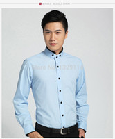 band collar shirts for men - XS XXXL Slim fit shirts Contrast banded collar Luxury shirt for men Camisa MZ