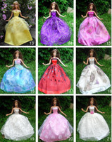 doll shoes - 30items dress shoes accessories Party Doll s Dress Clothes Gown For Barbie doll