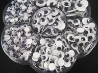 Wholesale 700pcs box mix sizes round self adhesive googly eyes