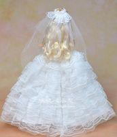 Wholesale White Wedding Dress For Barbie Doll