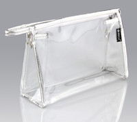 Wholesale Waterproof PVC Makeup Cosmetic Bag Clear Transparent Travel Storage Bags Girls Women Make up Pouch Cosmetics Bag