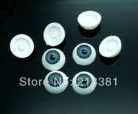 Wholesale 100Pcs pair Plastic Doll Eyes mm Half Round Blue Color A00491